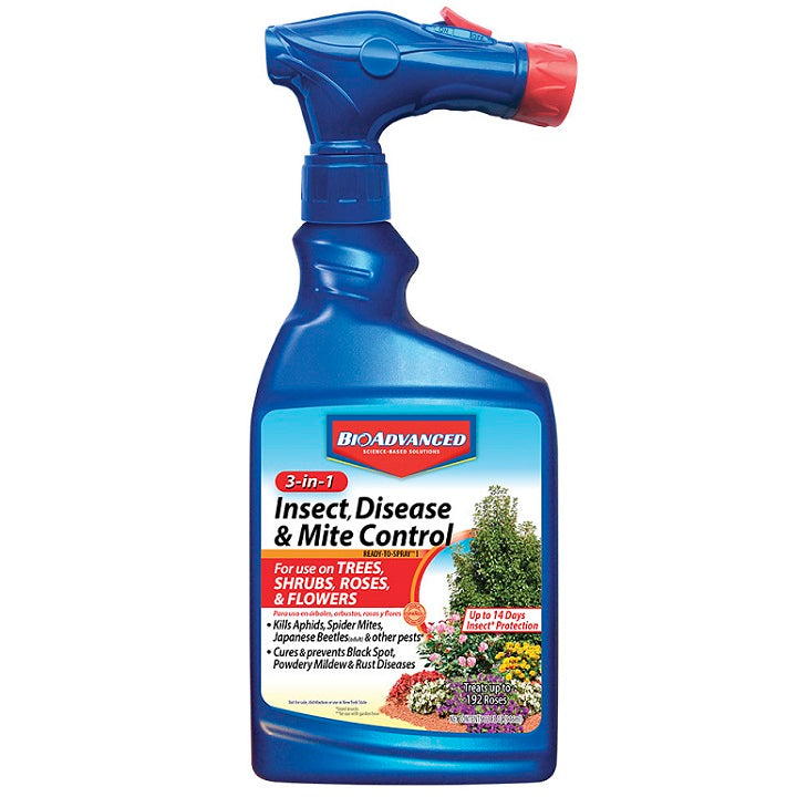 Insect, Disease & Mite Control, Ready-To-Spray 32 oz. - BioAdvanced