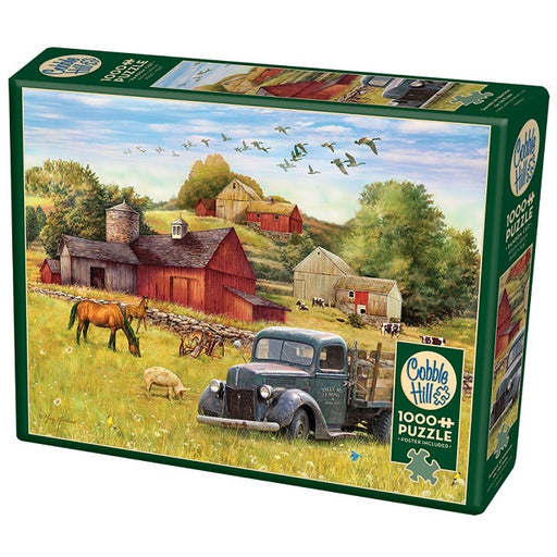 Cobble Hill 1000 Piece Jigsaw Puzzle, Summer Afternoon on the Farm