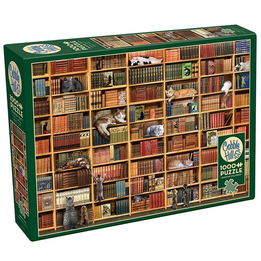 Cobble Hill 1000 Piece Jigsaw Puzzle, The Cat Library