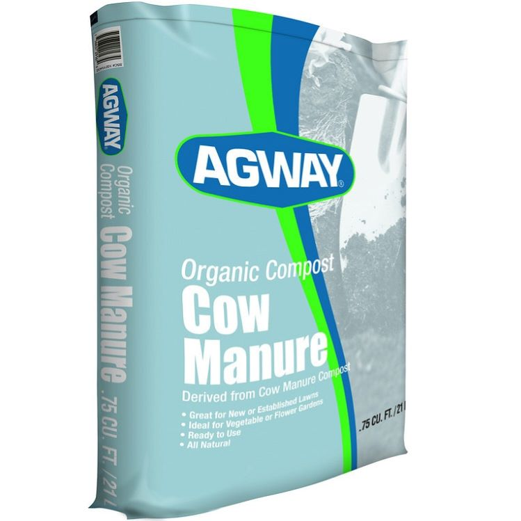 Composted Cow Manure, 0.75 cu ft bag