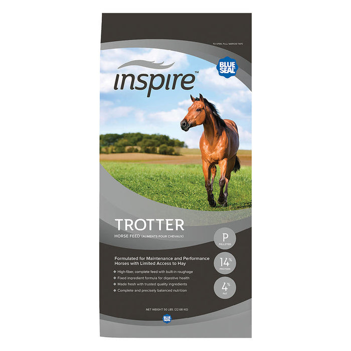 Blue Seal Inspire Trotter Horse Feed, 50 lbs.