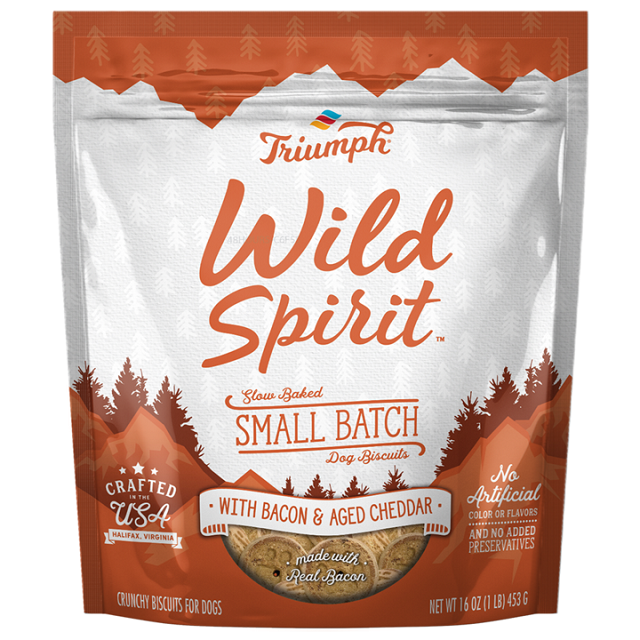 Wild Spirit with Bacon & Aged Cheddar Small Batch Dog Biscuits, 16-oz