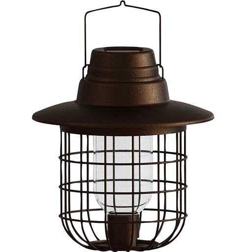 Solar Caged Barn Light & Wild Bird Feeder