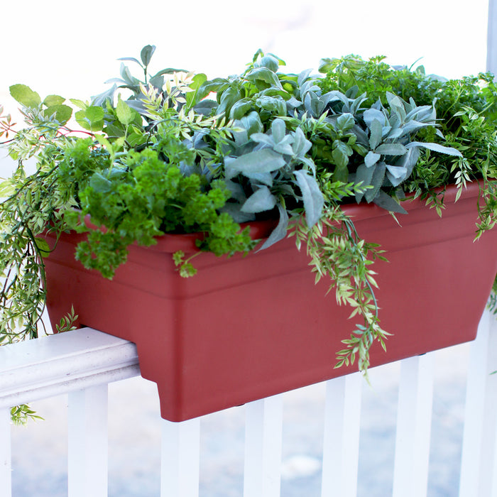 24 in. Deck Rail Planter, Sandstone