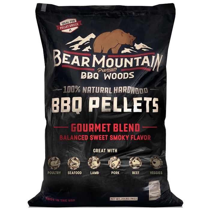 Bear Mountain Gourmet Blend BBQ Wood Pellets, 20-lbs