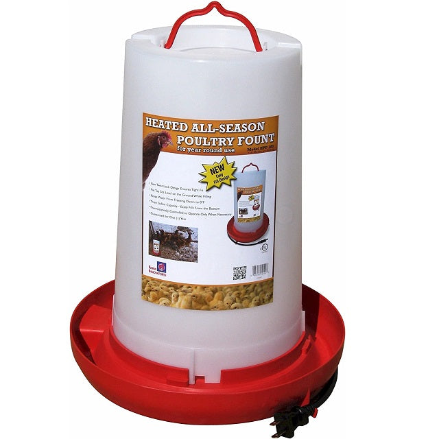 Farm Innovators HPF-100 Heated 3-Gallon Poultry Fountain