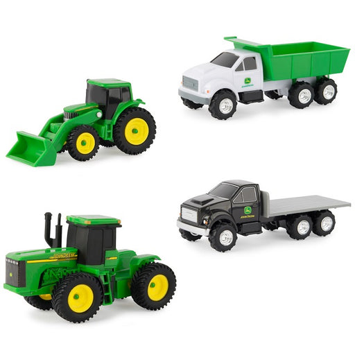 John Deere 4-Piece Vehicle Set, Assorted