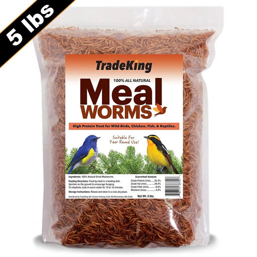 Dried Mealworms, 5-lb Value Bag
