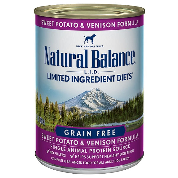Natural Balance L.I.D. Limited Ingredient Diets Grain-Free Sweet Potato & Venison Canned Dog Food