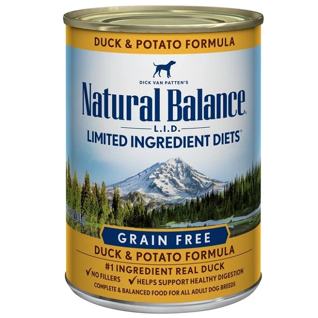 Natural Balance L.I.D. Limited Ingredient Diets Grain-Free Duck & Potato Canned Dog Food