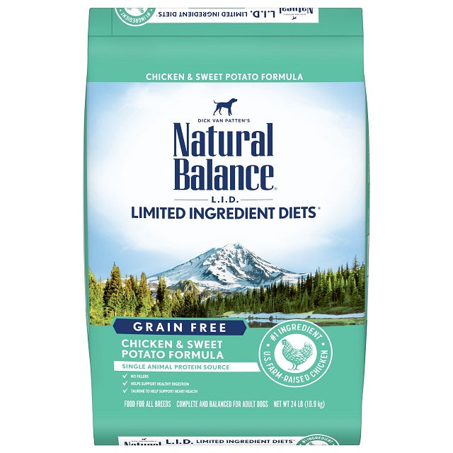Natural Balance L.I.D. Limited Ingredient Diets Dry Dog Food, Grain-Free Chicken & Sweet Potato Formula