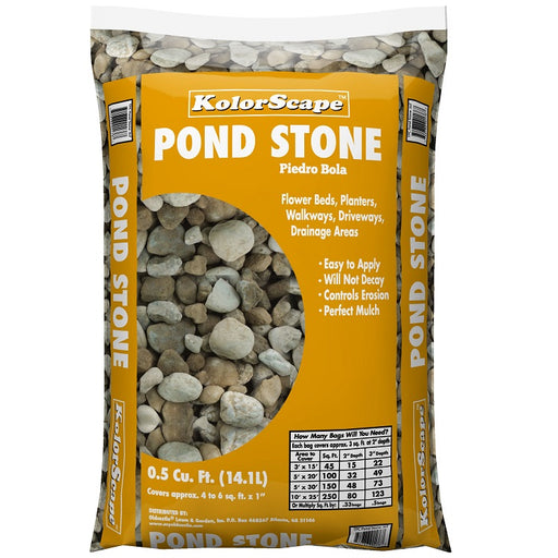 Kolorscape Pond Stone Garden Rock, 0.5 Cu. Ft.