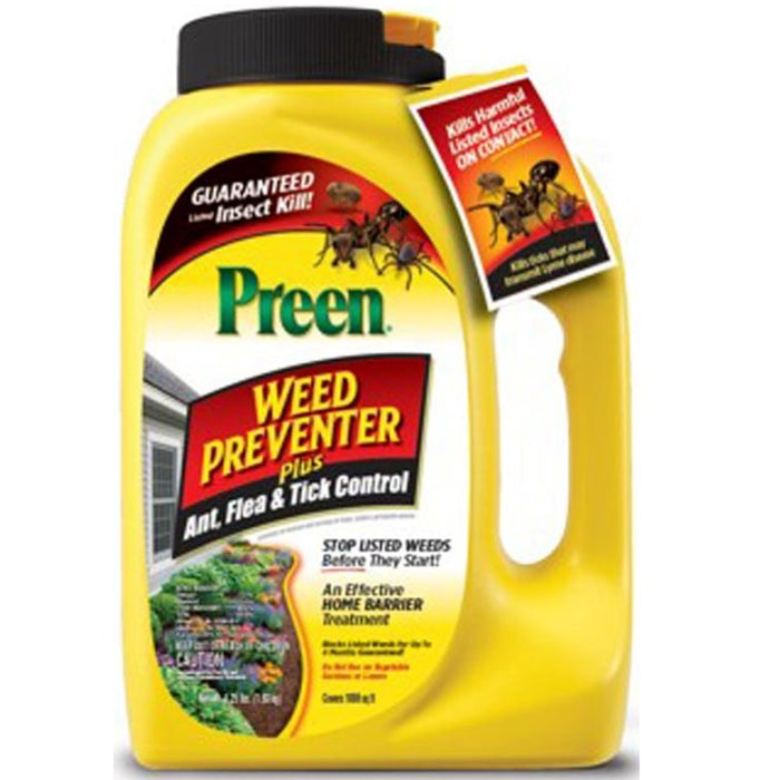 Preen Weed Preventer Plus Ant, Flea and Tick control