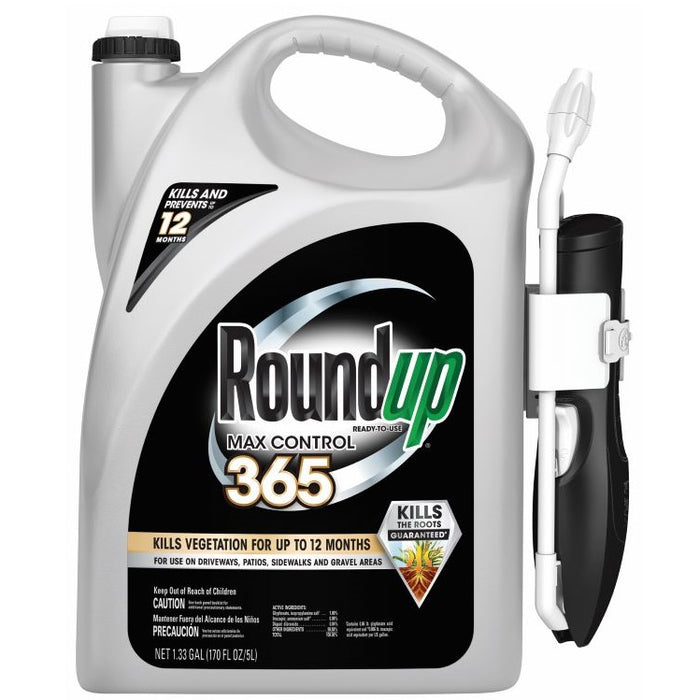 Roundup® Max Control 365 Weed & Grass Killer, Ready-to-Use with Comfort Wand 1.33 Gal