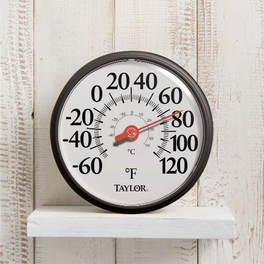 "Thermometer- 13.25"" Dial, Big & Bold Design"