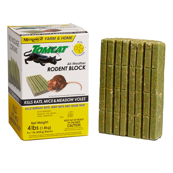 Tomcat All-Weather 1 lb. Rodent Block, 4 Pack
