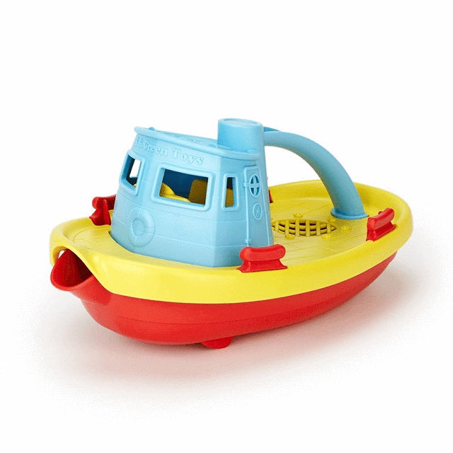 Green Toys Tugboat & Board Book Set