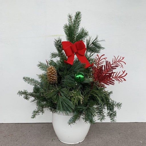 Holiday White Planter