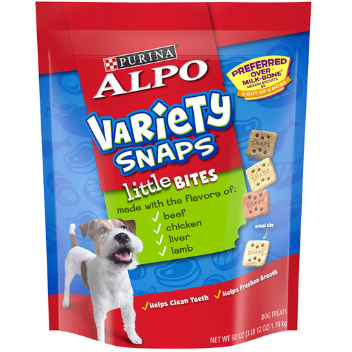 Alpo Variety Snaps Dog Treats, 60-Oz.