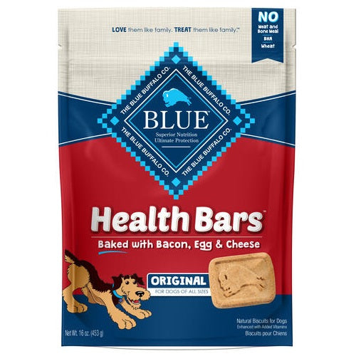 Blue Health Bars Baked with Bacon, Egg & Cheese Dog Treats 16-oz