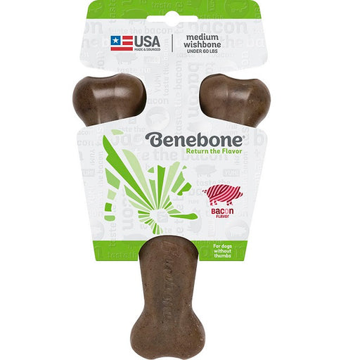 Benebone Wishbone Bacon Dog Chew, Medium