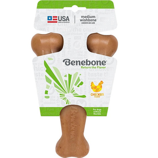 Benebone Wishbone Chicken Dog Chew, Medium