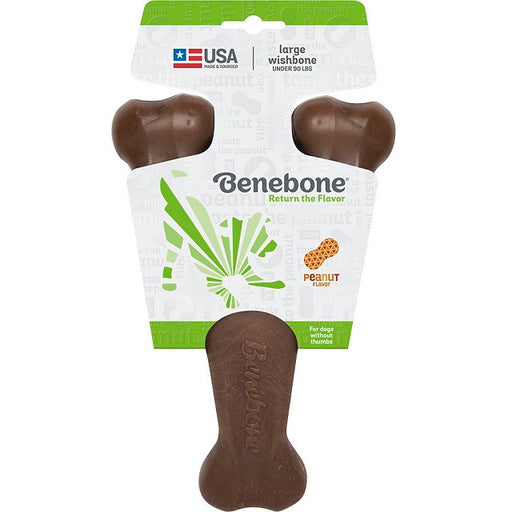 Benebone Wishbone Peanut Dog Chew, Large