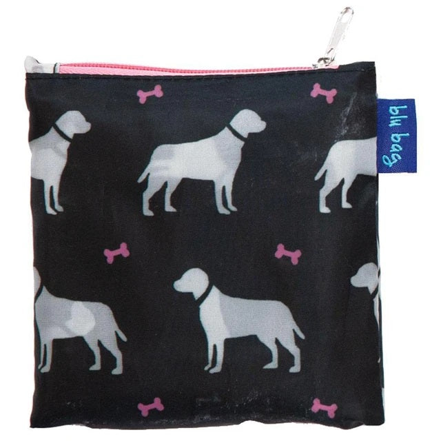 Dogs Black Blu Bag Reusable Shopping Bag