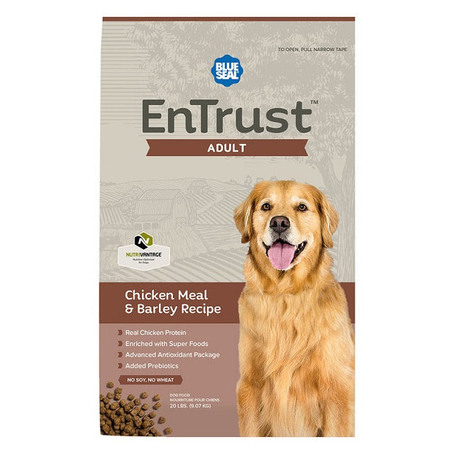 Blue Seal EnTrust Adult Chicken Meal & Barley Recipe Dry Dog Food 40-Lbs.