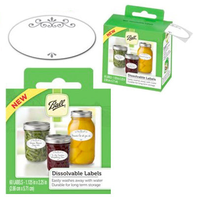 Dissolvable Jar Labels - Ball
