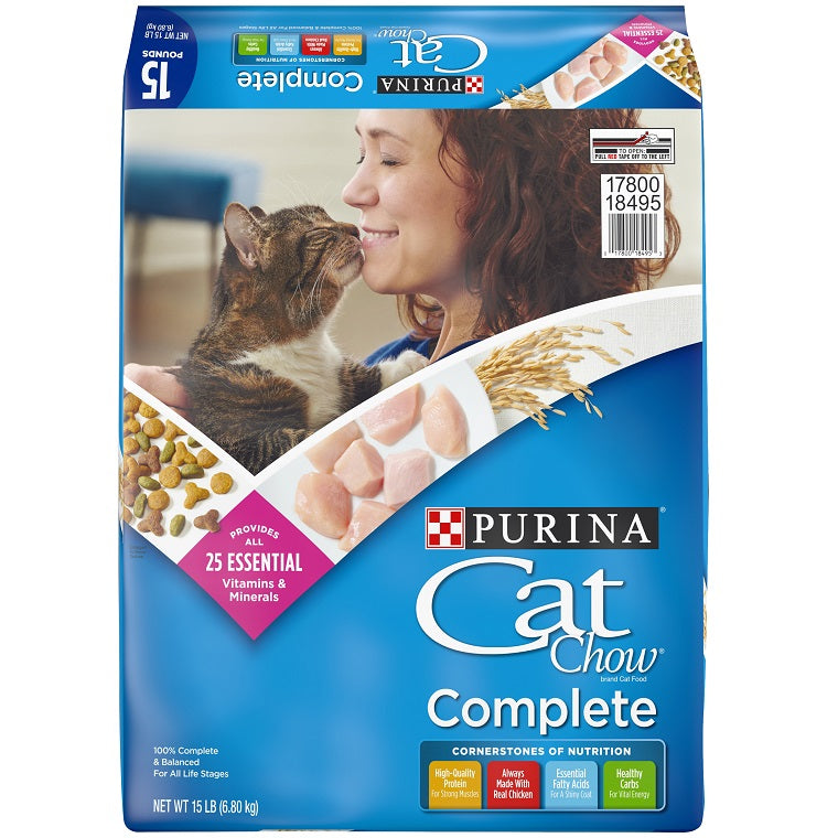 Purina Cat Chow Complete Dry Cat Food, 15-lbs