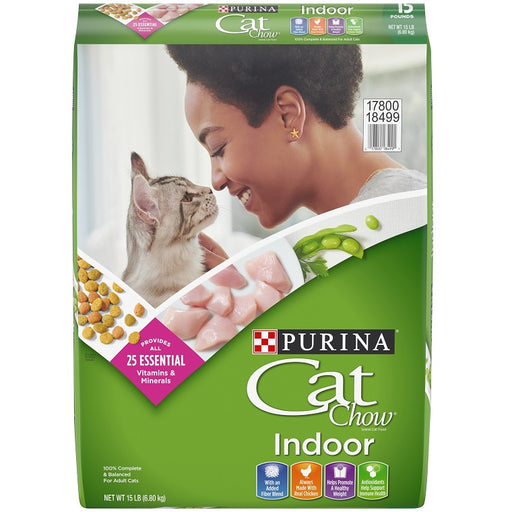 Purina Cat Chow Indoor Dry Cat Food, 15-lbs