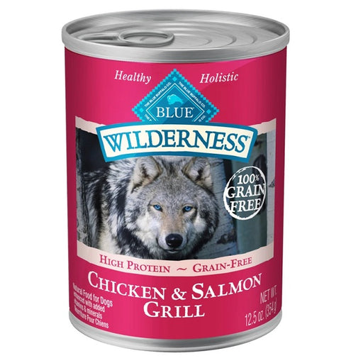 Blue Buffalo Wilderness Grain Free Salmon & Chicken Grill Canned Dog Food