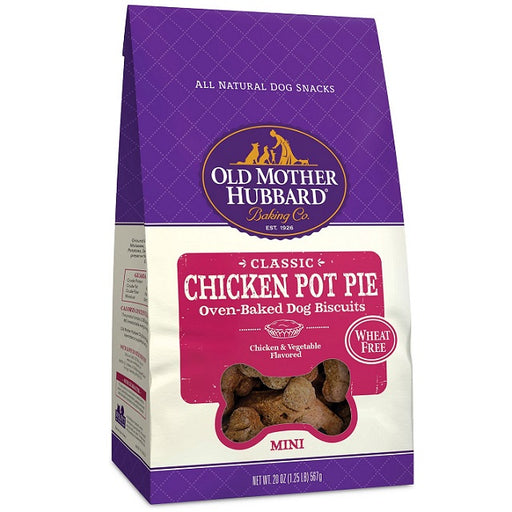 Old Mother Hubbard Crunchy Classic Natural Chicken Pot Pie Mini Biscuits Dog Treats