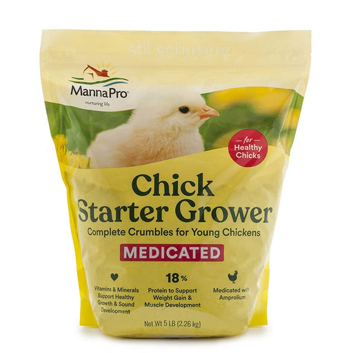 Manna Pro Medicated Chick Starter/Grower, 5 lb.