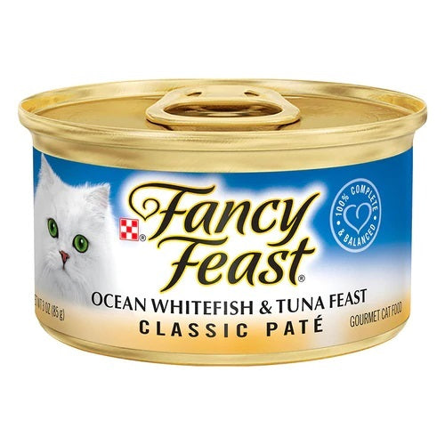 Fancy Feast Classic Pate Ocean Whitefish and Tuna Feast Canned Cat Food
