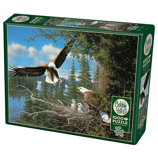 Cobble Hill 1000 Piece Jigsaw Puzzle, Nesting Eagles
