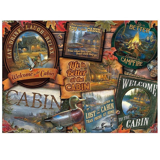 Cobble Hill 1000 Piece Jigsaw Puzzle, Cabin Signs