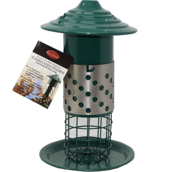 Combination Mealworm/Suet/Peanut Bird Feeder