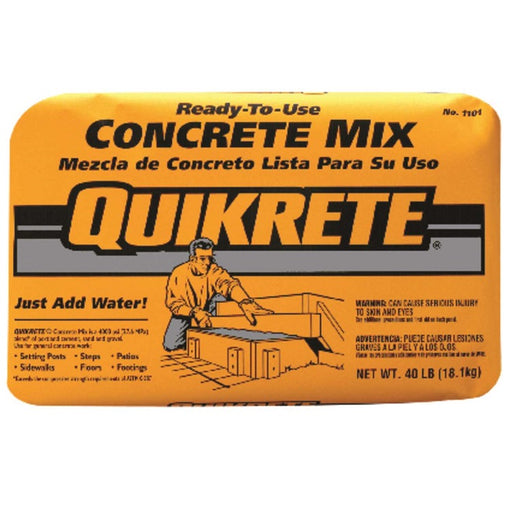 Quikrete Ready-to-Use Concrete Mix, 40-Lbs.