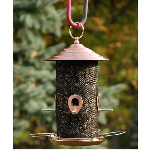 "Brushed Copper Screen Bird Feeder, 12"" - Audubon"