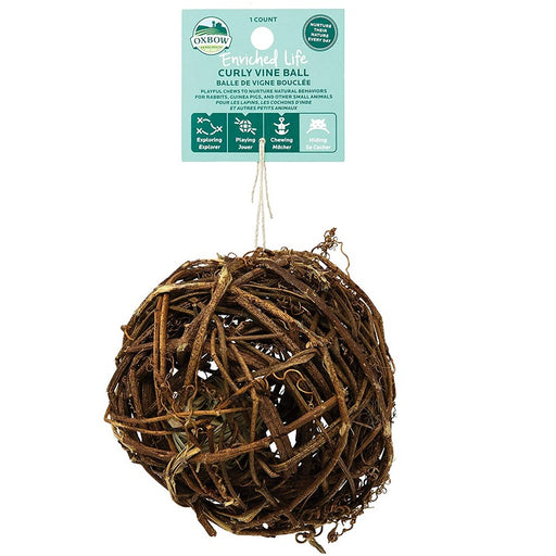 Curly Vine Ball, Small Animal Toy - Enriched Life