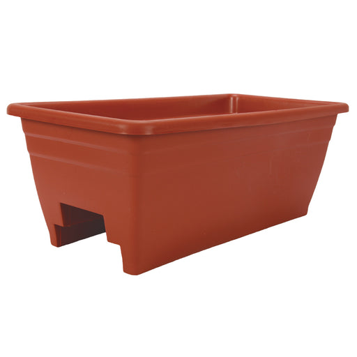 24 in. Deck Rail Planter, Clay
