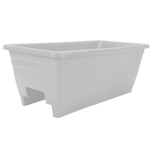 24 in. Deck Rail Planter, White