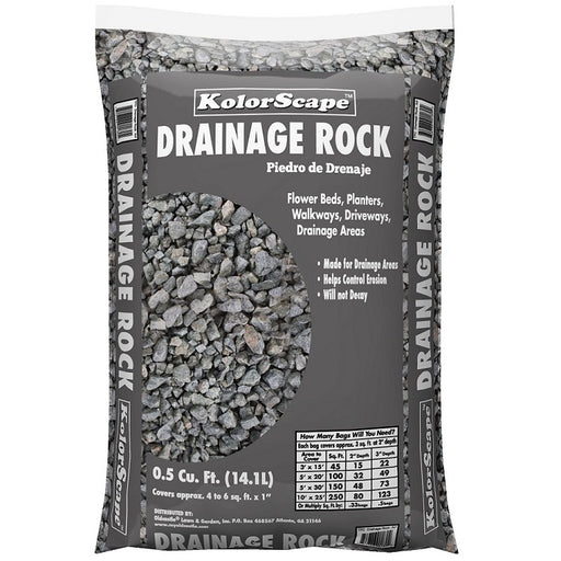 Kolorscape Gray Drainage Rock All-Purpose Stone, 0.5 Cu. Ft.