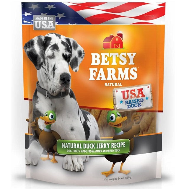 Betsy Farms Duck Jerky Recipe Dog Treats, 12-oz