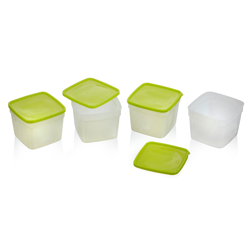 Freezer Containers, 1.5 pint - 4 pack