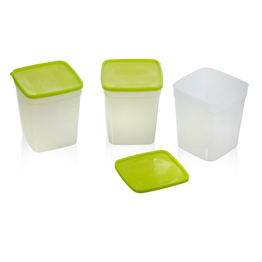 Freezer Containers, Quart - 3 pack