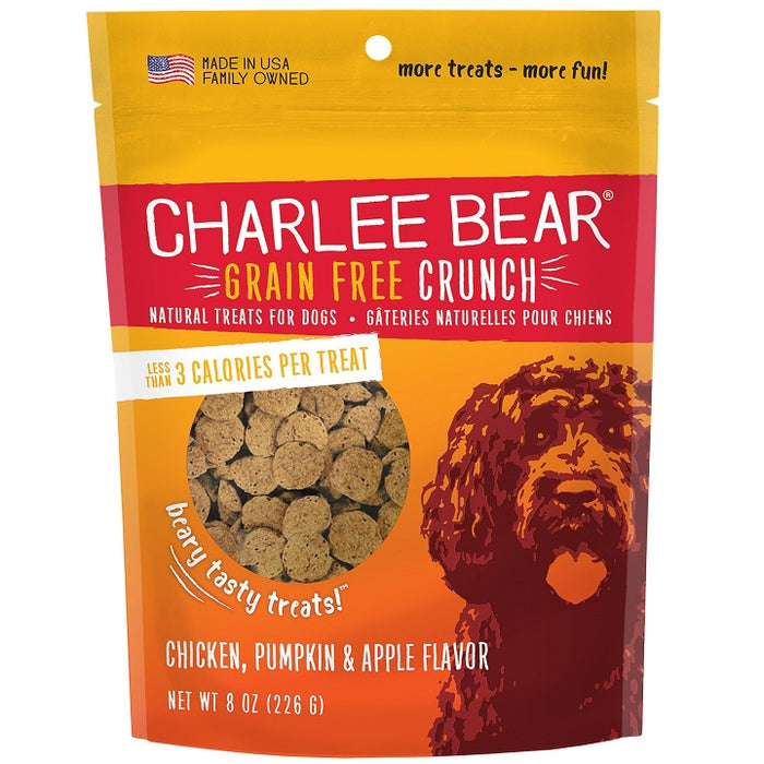 Charlee Bear Grain-Free Crunch Chicken, Pumpkin & Apple Natural Dog Treat