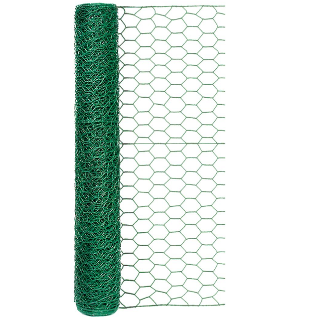 Green Vinyl Coated Poultry Netting, 24 in. x 25 ft.